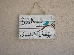 My Life is a Nutshell: Welcome sign from pallets