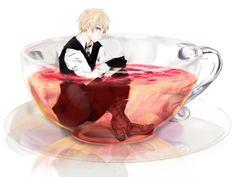 Arthur Kirkland and his tea!