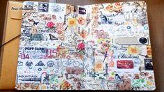 3 Días Art Journal-1: Fondo con washi-tape #artjournal #background