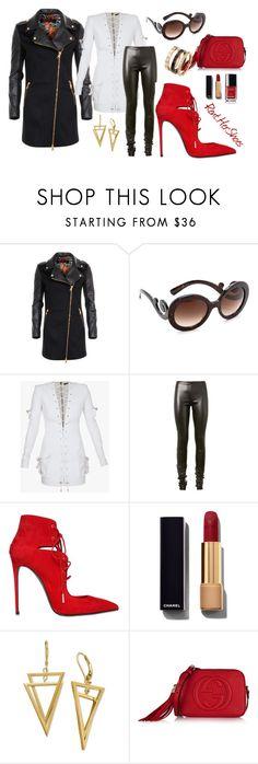 HOT STUFF by irina-mologoko on Polyvore featuring Balmain, Versus, Haider Ackermann, Le Silla, Gucci, Prada, Chanel, women's clothing, women's fashion and women