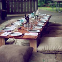 This would be so cute outdoors! Candlelight dinners