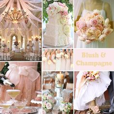 Blush and Champagne Wedding Colors - Blush and champagne is a subtle and romantic combination. #blushandchampagnewedding