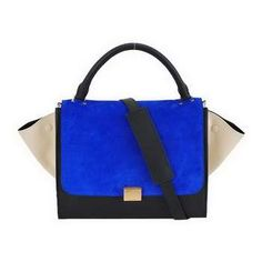 Cheap Celine Stamped Trapeze Bags-88037 Blue And Black