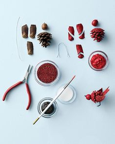 Pinecone Cardinal   Step-by-Step   DIY Craft How To's and Instructions  Martha Stewart