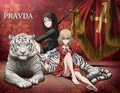 By far my favorite anime character is Katyusha. Anime Neko, All Anime, Kawaii Anime, Anime Girls, Brave Witches, Anime Uniform, Anime Military, Army Wallpaper, Tank Girl