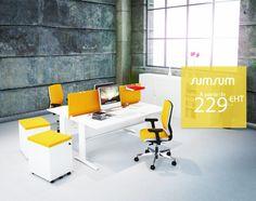 [NOUVEAUTE] Egayez vos locaux avec de nouveaux bureaux ! C'est la rentrée, découvrez SUMSUM à partir de 229 € HT : http://burofactory.com/eshop-sumsum.html