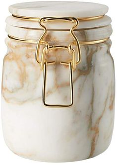 Editions Milano Miss Marble Calacatta Marble Jar Marble Jar, Calacatta Marble, Glass Canisters, White Gold, Passive Income, Glass Containers