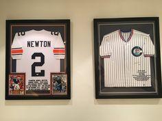 Framed #CamNewton and #DerekJeter jerseys!! #auburn #yankees