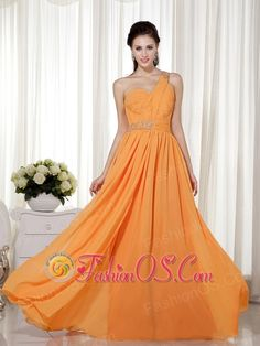 Orange Red Column / Sheath One Shoulder Floor-length Chiffon Beading Prom Dress- $126.59  www.fashionos.com  floor length prom dress | beaded floor length prom dress | 2013 junior prom pageant dress | cheap plus size 2013 prom homecoming gowns | 2013 2014 prom cocktail dresses | 2013 sexy custom made prom cocktail dresses for sale | fairy tales dress | where you can order prom dress | 2013 discount prom cocktail dress |