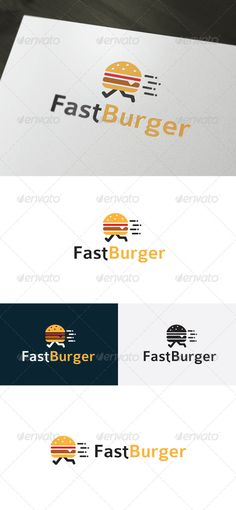 Fast Burger � Fast Food Logo Design Template Vector #logotype Download it here: http://graphicriver.net/item/fast-burger-logo-fast-food/6667286?s_rank=1586?ref=nexion