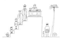 Resultado de imagen de saul steinberg comic