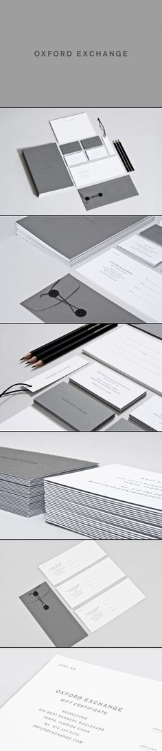 Identity development for Oxford Exchange including logo, stationary, brand guidelines, etc. by Studio Birdsall