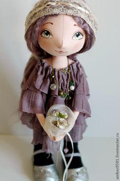 Текстильная кукла Фиалка. Handmade.