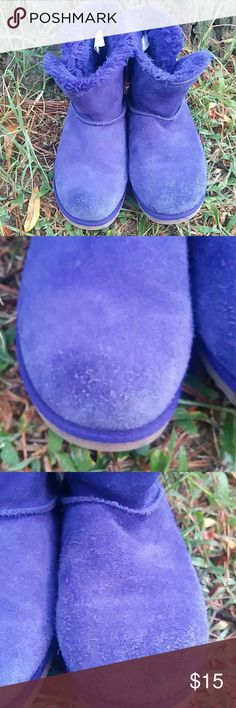 Girls Size 1 Purple Suede Boots by Circo Adorable pair of purple suede boots by Circo. Gently used with minor wear of front of each shoes as seen in photos. Circo Shoes Boots
