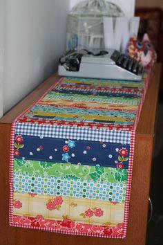Table runner - love all the Denise Schmidt fabrics!