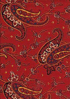 Provence fabric: Cachemire rouge coordonne