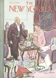 The New Yorker - Saturday, December 14, 1940 - Issue # 826 - Vol. 16 - N° 44 - Cover by : Helen E. Hokinson