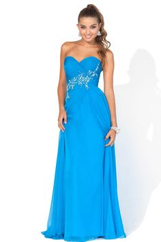 Frodsham Chiffon Sweetheart Strapless Beading Column Prom Dress [FCLA308537] - Aiven.co.uk