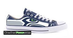 Converse Low Navy Seattle Seahawks  FREE by BandanaFeverShoes, $249.99