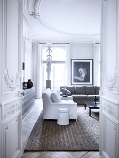 Bedroom in the Paris apartment of Gilles & Boissier. Featured in the November 2012 issue of DPAGES
