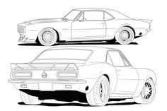 how to draw a chevy silverado | 67 Camaro line drawing - Chevrolet Forum - Chevy Enthusiasts Forums