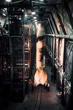 V–2 rocket standing upright in underground factory, photograph by Walter Frentz. Courtesy of Hanns-Peter Frentz/Amicale des déportés de Dora-Ellrich.