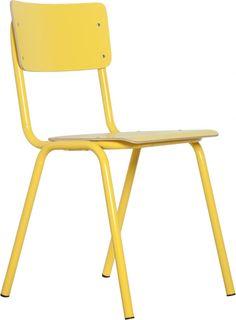 Stoel Back To School HPL - Geel - Zuiver
