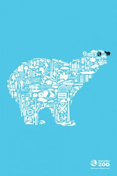 Toronto Zoo: Polar Bear Campaign Graphic Design