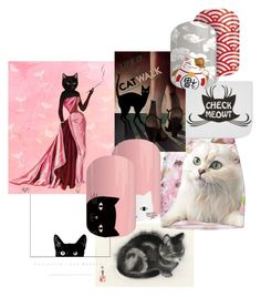 Nail Art for Cat People by natgschaefer on Polyvore familytime.jamberry.com