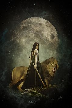 with the wonderful elandria and the lion from herrmann preiss photographer from germany with permission. thanks all for inspiration the lions war Lion Pictures, Lion Of Judah, Lion Art, Great Pic, After Dark, Narnia, Photo Manipulation, Lions, Fantasy Art
