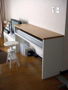 電子ピアノ台兼用デスク オーダー家具