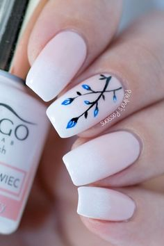 Lately I have been loving the very popular Baby Boomer nails (or sometimes called french fade manicure). It's basically a french manicure in a gradient version. French Manicure Gel, French Fade Nails, No Chip Manicure, Faded Nails, Manicure Colors, Manicure And Pedicure, Pink Nails, Accent Nail Designs, French Nail Designs