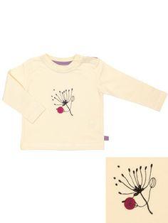 Tshirt baby en coton bio tout doux, biais de coton en contraste couleur