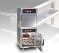 """Preparing and holding meals that sustain product integrity, flavor, and stay hot can be a major challenge in a hectic restaurant environment. So let the FWE Low Temperature Cook & Hold Ovens do the cooking and holding for you! Great for roasts, vegetables, starches and baking, effortlessly load your product, set and you're done. With easy to use controls that switch automatically from a """"Cook"""" to """"Hold"""" mode, there is no need to check or let your roast rest after completion. Perfect Fry, Professional Kitchen, Restaurant Equipment, Roasts, Ovens, Integrity, Environment, Challenge, Kitchen Appliances"""