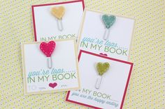 Include a bookmark in the Valentines - You're Tops in my Books