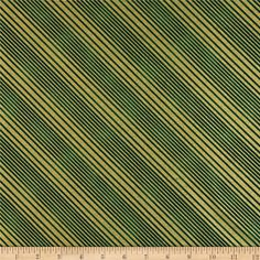 All Wrapped Up Metallic Diagonal Stripe Gold/Green from @fabricdotcom  Designed by Skipping Stones Studio for Clothworks, this cotton print fabric is perfect for quilting, apparel and home decor accents. Colors include  green. Features gold metallic accents throughout.