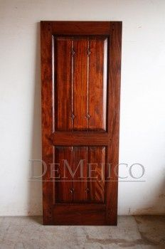 This custom Interior Mahogany door features custom hand carved diamonds on the solid wood panels. This particular design is our Signature interior door that we offer special pricing in large quantities. We can also make this piece in Alder to reduce the c Spanish Bedroom, Spanish Style, Wood Doors, Wood Paneling, Types Of Wood, Hand Carved, Solid Wood, Carving, Interior Doors