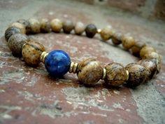 Spiritual Journey / Third Eye / Yoga Bracelet / Men by Syrena56, $27.00