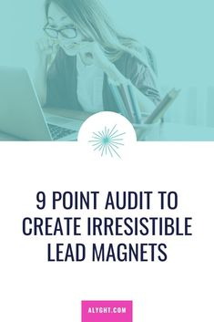 9 Point Audit to Create Irresistible Lead Magnets Sales Strategy, Email Marketing Strategy, Small Business Marketing, Content Marketing, Business Tips, Online Marketing, Social Media Marketing, Online Business, Marketing Ideas
