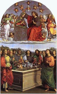 Pala degli Oddi AutoreRaffaello Sanzio Data1502-1503 Tecnicaolio su tavola trasportata su tela Dimensioni267 cm × 163 cm  UbicazionePinacoteca Vaticana, Città del Vaticano