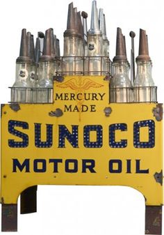 Sunoco oil bottle display--I had one of these oil bottles and I sold it on ebay a couple weeks ago