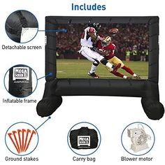 An entertaining large crowd is growing rapidly in today's world, particularly in sports, movies or live broadcasts where no one wants to miss a single Outdoor Projector Screens, Projection Screen, Outdoor Movie Screen, Best Home Theater, Giant Inflatable, 7 Year Olds, Carry On Bag, Outdoor Entertaining, Outdoor Camping