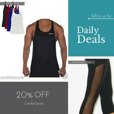 Today Only! 20% OFF this item.  Follow us on Pinterest to be the first to see our exciting Daily Deals. Today's Product: Sale - 20offcandish Candish Classic Gym Vest Mens Bodybuilding Vest Buy now: http://candishsports.com/products/gym-vest-stringer-bodyb