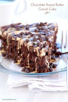 Chocolate Peanut Butter Crunch Cake  |  Namely Marly  |  V