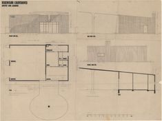 Arne Jacobsen, Texaco tank, Skovshoved, plan, 1938 - Kunstbib.dk