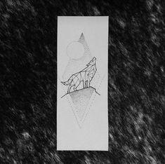 Geométric Wolf tattoo - by Broken Ink follow instragram @broken_tattoo #geometrictattoo #lineworktattoo #brokeninktattoo