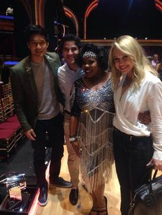 Darren supporting Amber on DWTS - Team Roughley, Amber Riley & Derek Hough