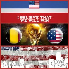 Today #USA vs #BELGIUM at 4PM EST. Are You Ready.. I Believe That We Will Win #IBelieveThatWeWillWin #ibtwww #ERDAPD #CCB @ERDAPD Lets Go USA!!! Who do you want to win todays game??