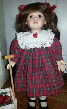 Apple Dumpling Porcelain Doll by Ann Timmerman for Georgetown Collection | eBay