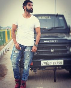 Parmish Verma Beard, Swag Boys, My First Crush, Mens Fashion Wear, Boys Dpz, Mp3 Song Download, Bollywood Actors, Bearded Men, Champion